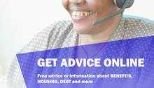 Online advice poster a4 listing